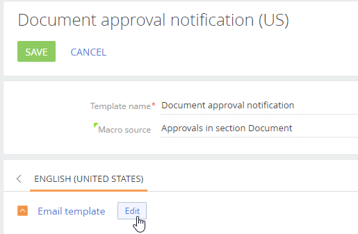 How to set up custom email templates for approval