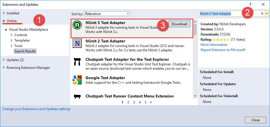 How to create Unit-tests via NUnit and Visual Studio | bpm