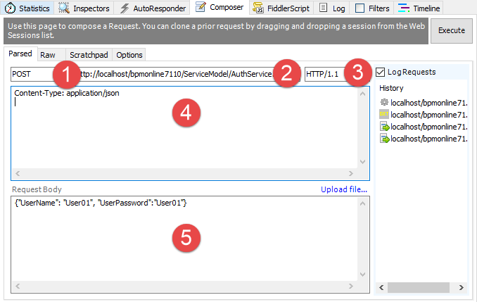 Executing OData queries using Fiddler | bpm'online academy